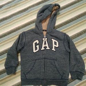 GAP Kids' Sherpa lined Logo Zip! Sz XS